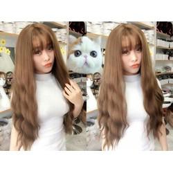 tóc giả xoăn nhẹ