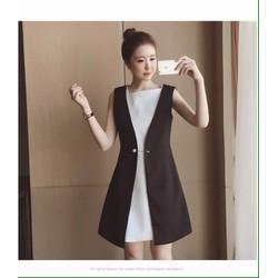 Hàng Nhập-Đầm Suông Giả Vest