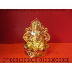 Phật Bà 2 mặt để xe ô tô 12 x 10 cm - Đồ phong thủy