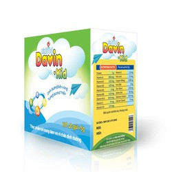 Davin – Kid Bổ sung đạm, canxi và vi chất dinh dưỡng