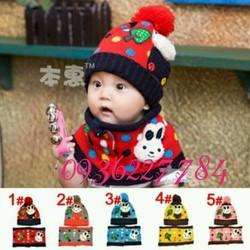 Bộ khăn mũ len rất xinh và ấm áp cho bé