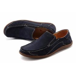 Giày nam chất liệu da lộn thương hiệu ecco màu xanh đen