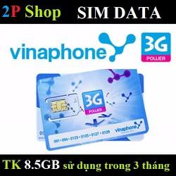Sim DATA Vinaphone 8.5GB sử dụng trong 3 Tháng