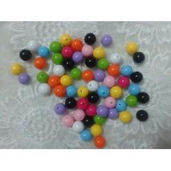Hạt tròn làm vòng handmade loại 8mm đủ màu-100g