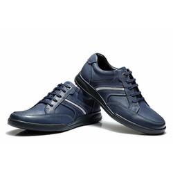 Giày da nam công sở phong cách thời trang 2016 màu xanh đen