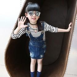 V3199 Yếm jean bé gái từ 20kg đến 45kg