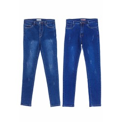 Combo 2 Quần Jeans Dài Ống Xước Nữ Màu Xanh Nhạt