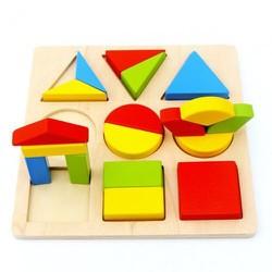 Bảng ghép hình khối toán học