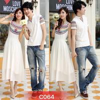 Set cặp áo nam váy maxi nữ duyên dáng,trẻ trung-C064