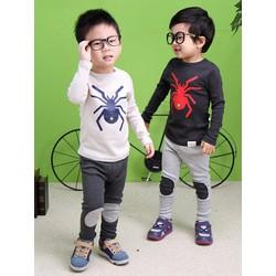 Set quần dài và áo tay dài thêu hình nhện cho bé 2-8 tuổi CIRINO