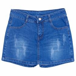 Quần Short Jeans Giả Váy Nữ Màu Xanh Nhạt