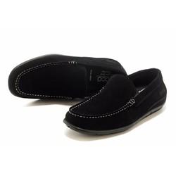 Giày nam công sở chất liệu da lộn màu đen New 2016