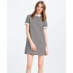 Váy kẻ ngang cổ sơ mi Hãng Zara - Hàng nhập Mỹ