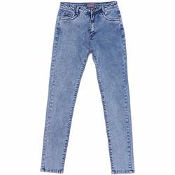 Quần Jeans Dài Ống Trơn Nữ Màu Xanh Nhạt