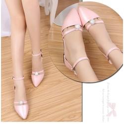 Hàng cao cấp - giày búp bê đế bệt màu hồng