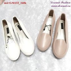 Giày mọi nữ trơn kiểu dáng đơn giản dễ thương GM133