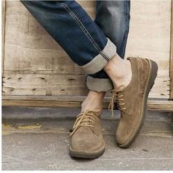 Giày nam chất liệu da lộn kiểu dáng thời trang 2016