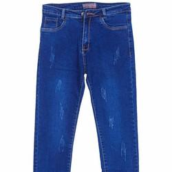 Quần Jeans Dài Ống Xước Nữ Màu Xanh Nhạt