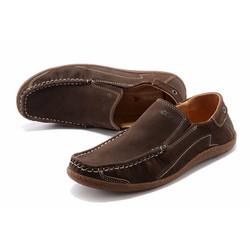 Giày nam chất liệu da lộn thương hiệu ecco 2016 màu nâu