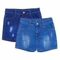 Combo 2 Quần Short Jeans Giả Váy Nữ Màu Xanh