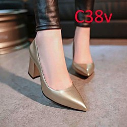 Giày cao gót vuông 6cm