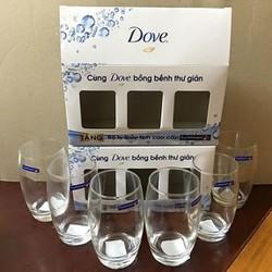 Bộ cốc thủy tinh Dove