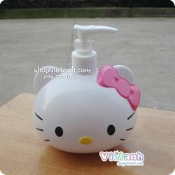 Bình đựng sữa tắm Hello Kitty- SPKT 22