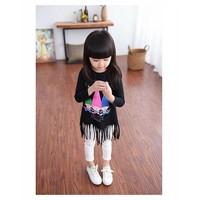 Bộ dài tay tua-rua dễ thương cho bé gái 10-25kg