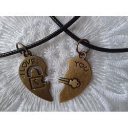 Dây chuyền đôi dễ thương -1 cặp kèm hộp quà trái tim