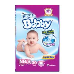 Tã-bỉm dán Bobby Newborn S30