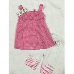 Bộ legging và áo chấm bi hồng