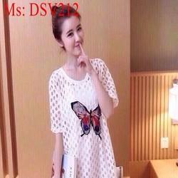 Đầm suông họa tiết hình bướm xinh đẹp trẻ trung DSV212