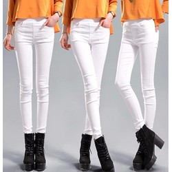 Quần Kaki skinny color block