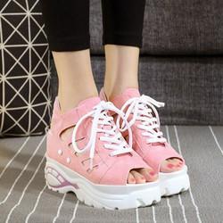 Giày Sandal nữ nâng để cá tính S037H