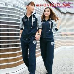 Bộ quần áo thể thao nữ dài Classic phối màu năng động QATT272