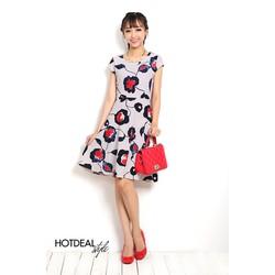 Đầm Vintage Hoa Xòe