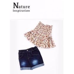 Bộ áo ống in hoa quần jean cực sành điệu