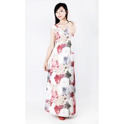 Đầm maxi dài họa tiết hoa sang trọng