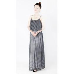 Đầm maxi dài họa tiết sọc ngang