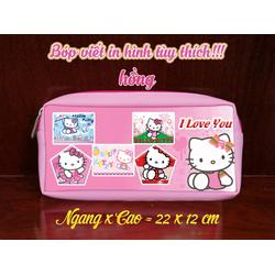 Bóp viết in hình hello kitty - BVH0001