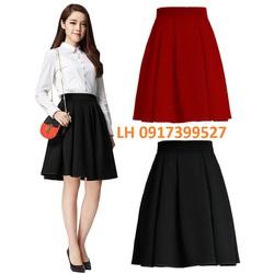 Chân váy xòe công sở xếp ly thời trang Hàn Quốc mới R161847