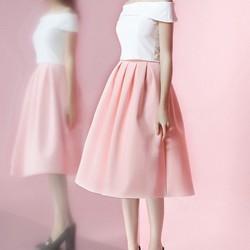 Chân váy dài xếp pli