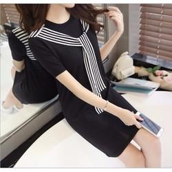 Đầm suông len tay ngắn thời trang nữ cao cấp 2016 - A902
