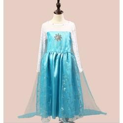 Đầm voan hóa trang công chúa Elsa tà dài mừng sinh nhật