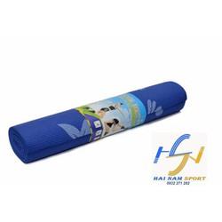 Thảm tập Yoga hoa văn màu xanh đậm kèm túi đựng
