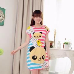Đầm mặc nhà họa tiết gấu