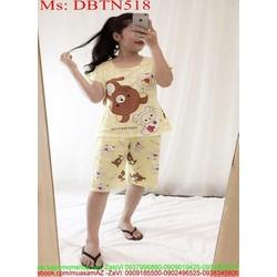 Đồ bộ nữ mặc nhà lửng hình chú gấu dễ thương DBTN518