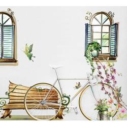 Decal dán tường bức tranh cửa sổ