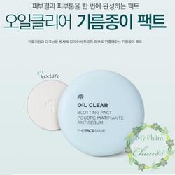 Phấn Phủ Kiềm dầu The Face Shop Oil Clear Blotting Pact