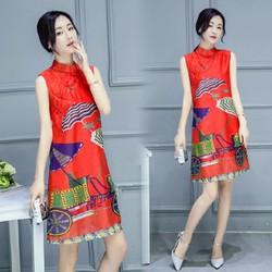 Đầm nữ sắc màu sang trọng - D073